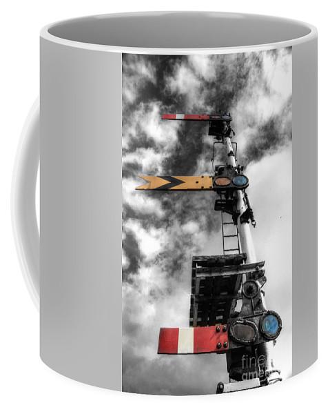 Semaphore Coffee Mug featuring the photograph Semaphore by Rob Hawkins
