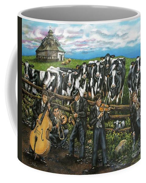 Linda Simon Coffee Mug featuring the painting Semi-formal by Linda Simon