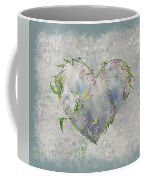 Heart Coffee Mug featuring the painting Sending Out New Shoots by RC DeWinter