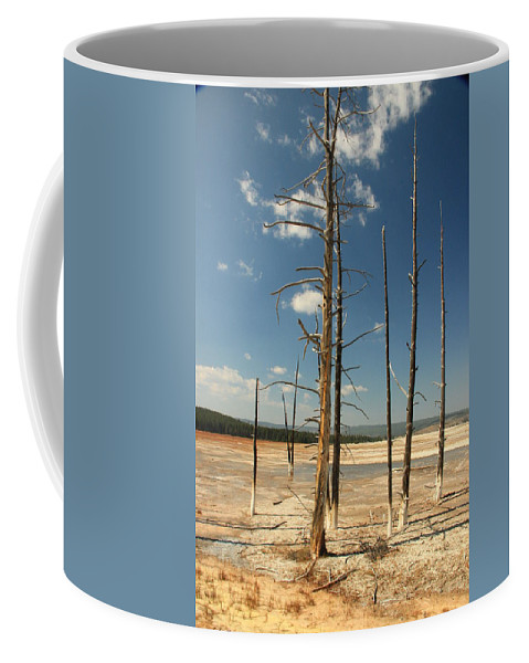 Yellowstone Coffee Mug featuring the photograph Sentries Standing Guard by Marv Russell
