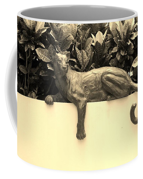 Cat Coffee Mug featuring the photograph Sepia Cat by Rob Hans