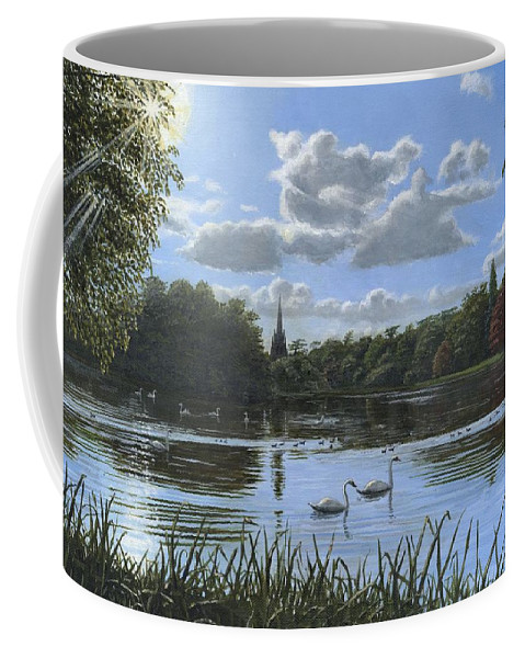 Landscape Coffee Mug featuring the painting September Afternoon In Clumber Park by Richard Harpum
