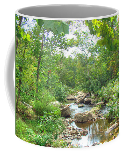 Coffee Mug featuring the photograph September Arrives At The Unami Creek by Mother Nature