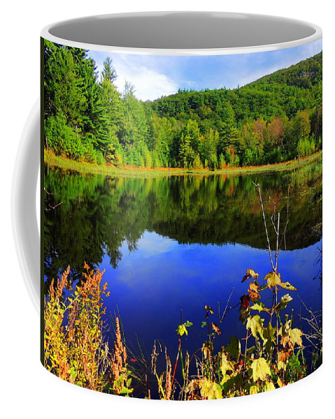 Durrell Mountain Coffee Mug featuring the photograph September Reflections by Mim White
