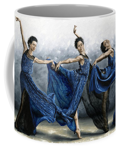 Dance Coffee Mug featuring the Sequential Dancer by Richard Young