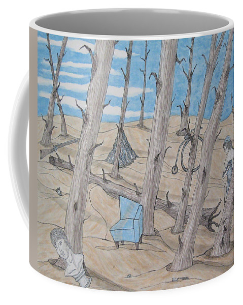 Surrealism Coffee Mug featuring the painting Serene by Barb Meade