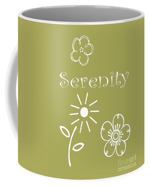 Serenity Coffee Mug featuring the digital art Serenity by Voros Edit