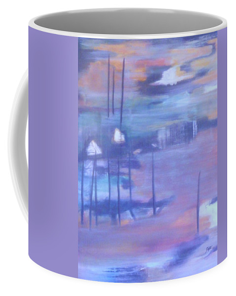 This Landscape Coffee Mug featuring the painting Serenity I by Sheryl Crighton