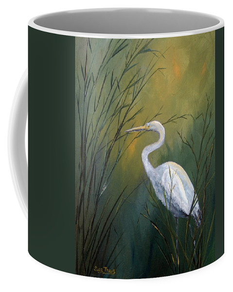 Louisiana Art Coffee Mug featuring the painting Serenity by Suzanne Theis