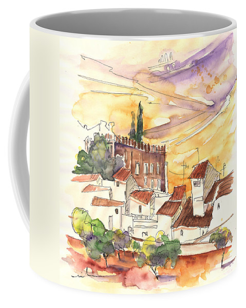Water Colour Coffee Mug featuring the painting Serpa Portugal 27 by Miki De Goodaboom
