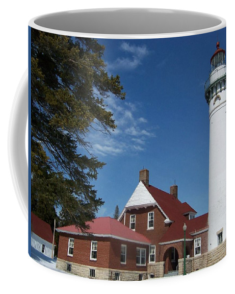 Lighthouse Coffee Mug featuring the photograph Seul Choix Lighthouse by Teresa McGill