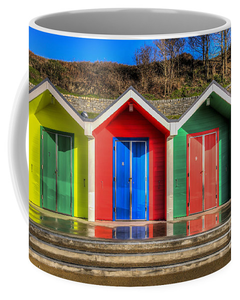 Barry Island Beach Huts Coffee Mug featuring the photograph Seven To Ten by Steve Purnell