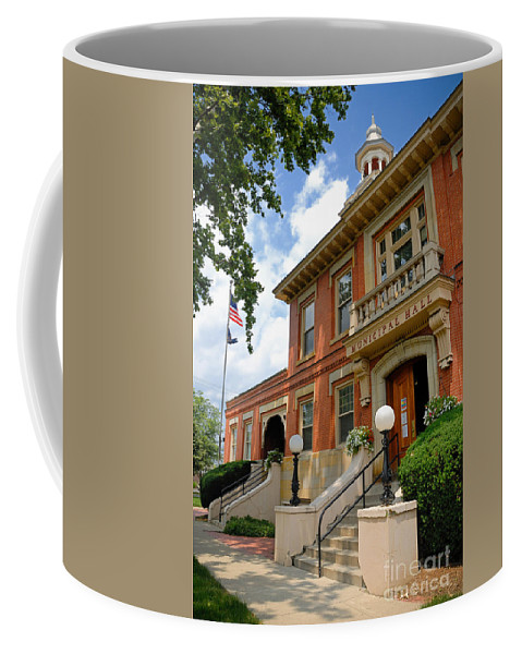 Allegheny County Coffee Mug featuring the photograph Sewickley Municipal Hall by Amy Cicconi