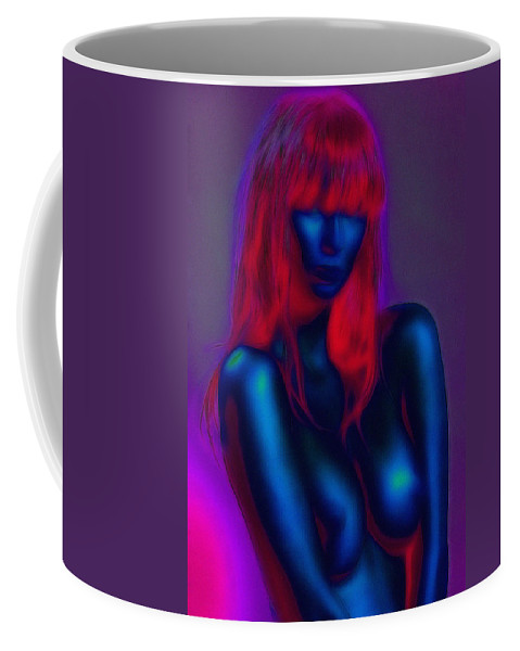 Sexy Babe Girl Female Woman Nude Naked Boobs Tits Breast Sensual Erotic Red Hair Coffee Mug featuring the painting Sexy Babe by Steve K