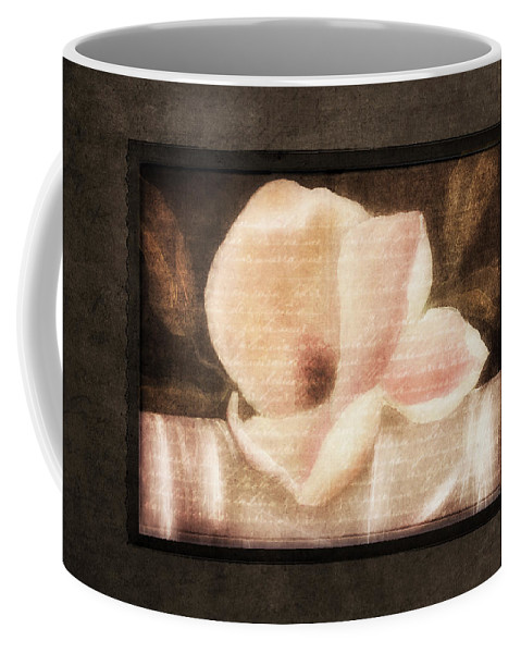 Vintage Coffee Mug featuring the painting Shabby Vintage Magnolia by Georgiana Romanovna