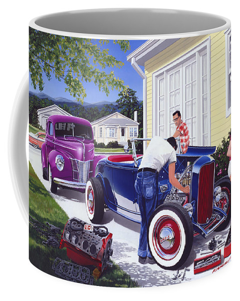 Adult Coffee Mug featuring the photograph Shade Tree Mechanic by Bruce Kaiser