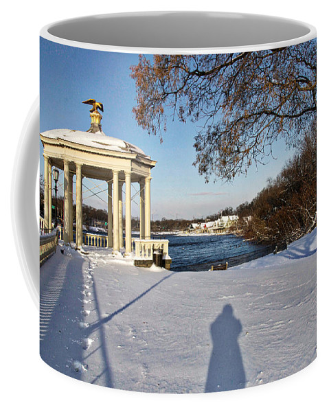 Art Museum Coffee Mug featuring the photograph Shadow In The Snow by Alice Gipson