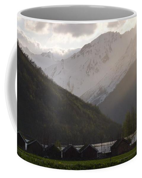 Coffee Mug featuring the photograph Shadowing The Peaks by Katerina Naumenko