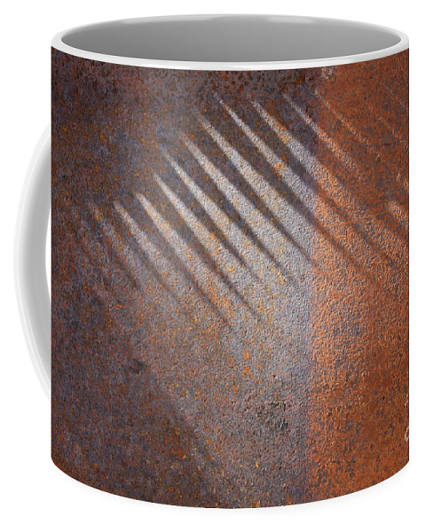 Rust Coffee Mug featuring the photograph Shadows And Rust by Carol Groenen
