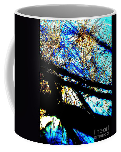 Dune Coffee Mug featuring the photograph Shadowy Snowy Dune by Eric Schiabor