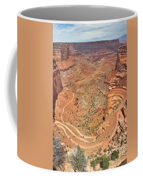 3scape Coffee Mug featuring the photograph Shafer Trail by Adam Romanowicz