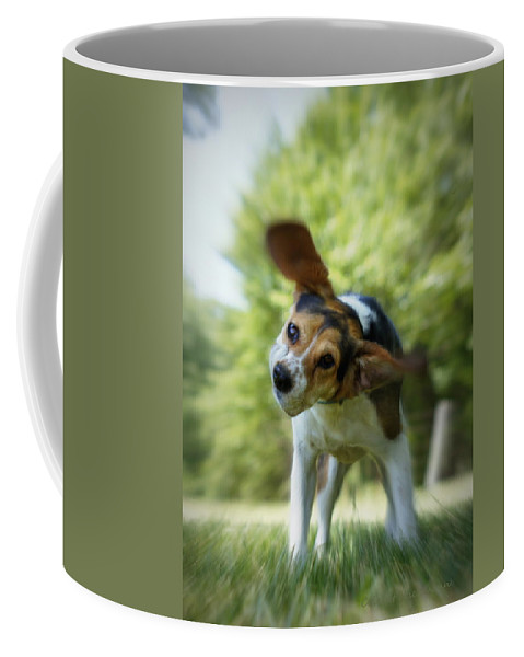 Beagle Coffee Mug featuring the photograph Shake Shake Shake by Cricket Hackmann