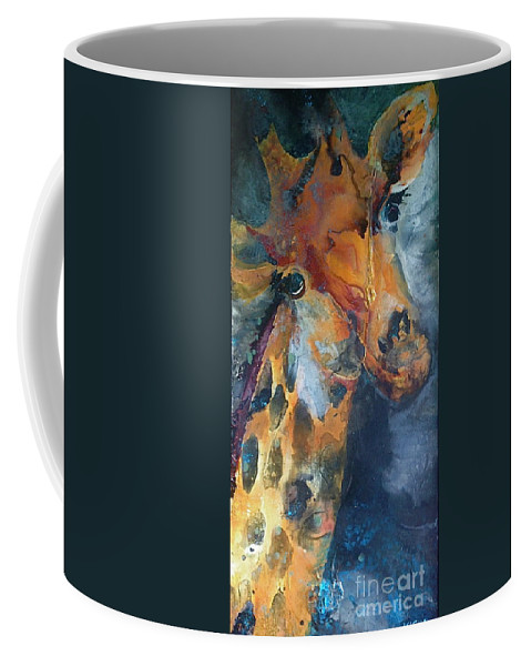 Kasha Ritter Coffee Mug featuring the painting Spot On by Kasha Ritter