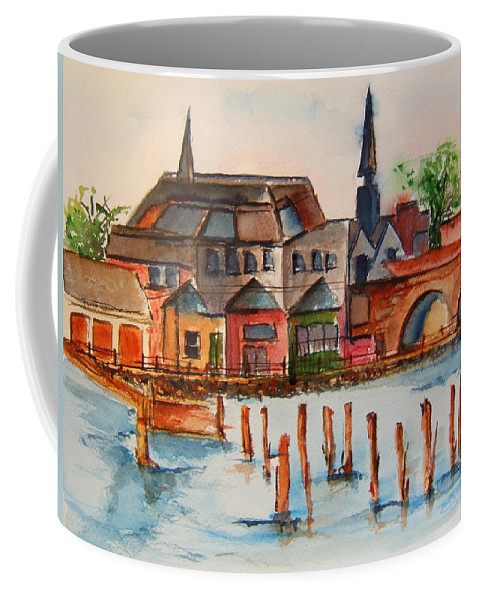 Ireland Coffee Mug featuring the painting Shannon River by Elaine Duras