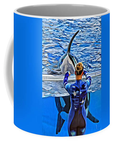 Whale Coffee Mug featuring the photograph Shapely Orca by Alice Gipson