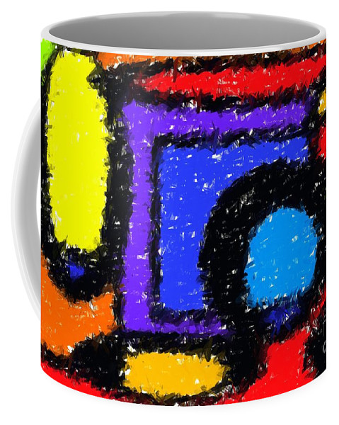 Abstract Coffee Mug featuring the digital art Shapes 1 by Chris Butler