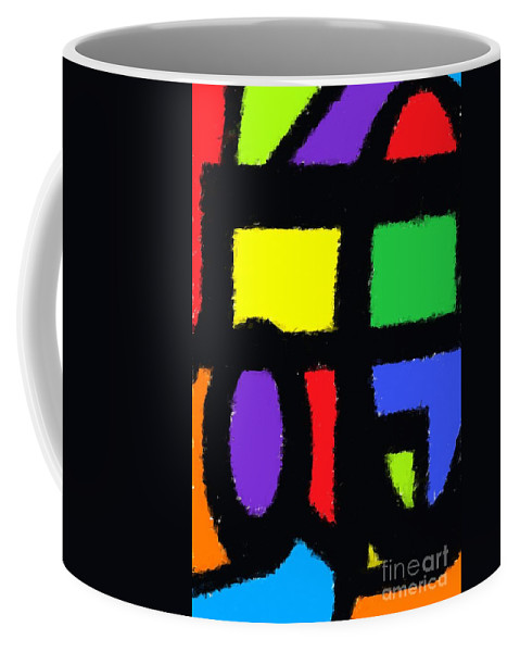 Abstract Coffee Mug featuring the digital art Shapes 14 by Chris Butler