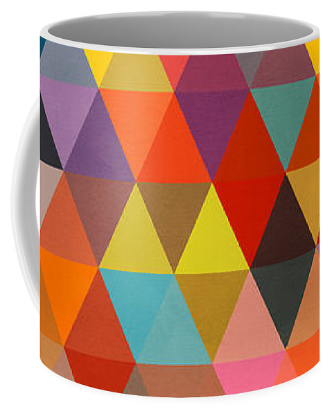 Contemporary Coffee Mug featuring the painting Shapes by Mark Ashkenazi