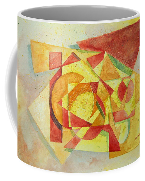 Abstract Coffee Mug featuring the painting Sharp Edges by Andrew Gillette