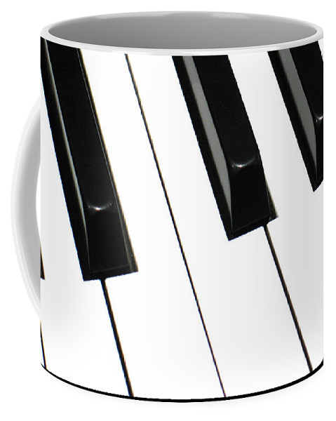Piano Coffee Mug featuring the photograph Sharps And Flats by Ann Horn