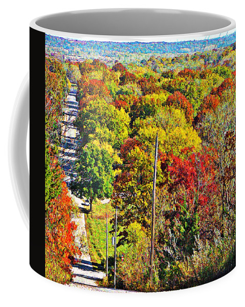 Landscape Coffee Mug featuring the photograph Shawnee Hill by Chris Berry