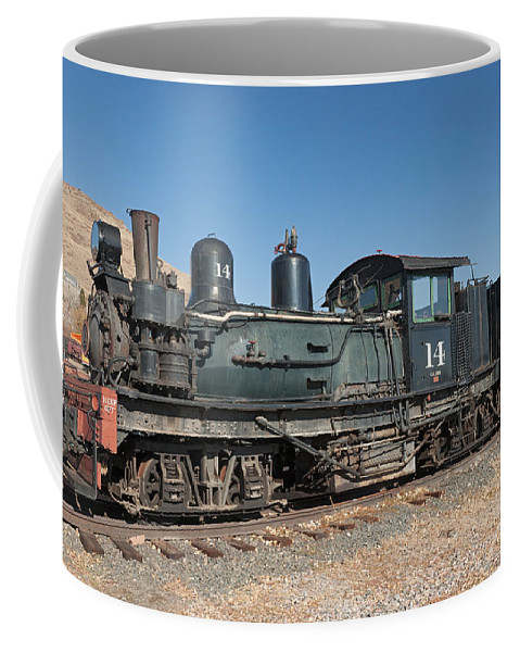 Colorado Coffee Mug featuring the photograph Shay Engine 14 In The Colorado Railroad Museum by Fred Stearns