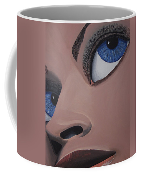 Eye Catching Coffee Mug featuring the painting SHE by Dean Stephens