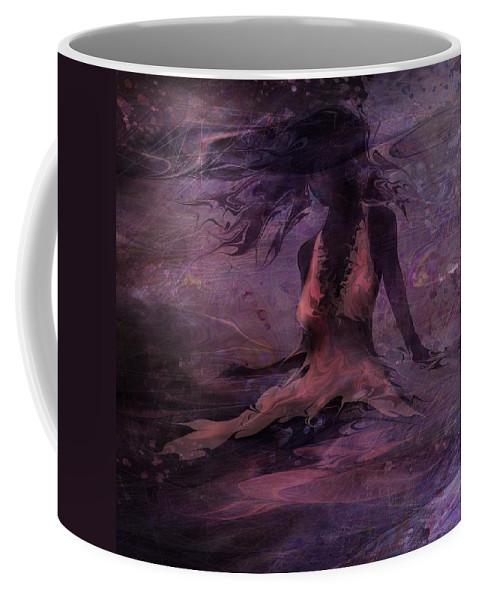 Woman Coffee Mug featuring the digital art She Is The Wind by Rachel Christine Nowicki