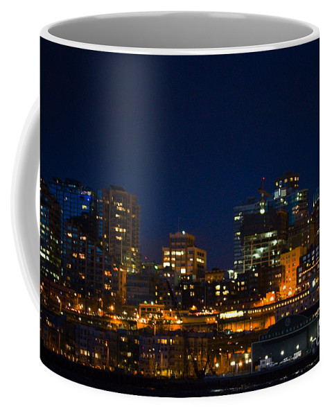 Seattle Coffee Mug featuring the photograph She Sparkles In The Night by Marie Jamieson