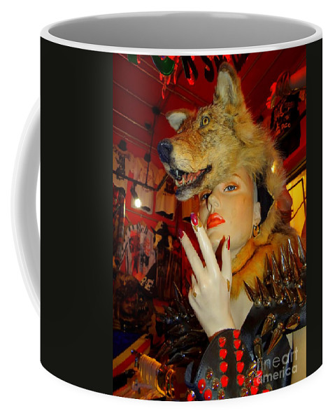 Mannequins Coffee Mug featuring the photograph She Wolf by Ed Weidman
