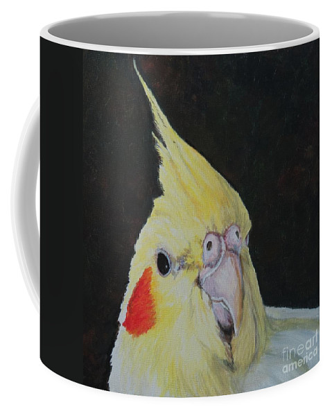 Bird Coffee Mug featuring the painting Sheeka The Cockatiel by Charlotte Yealey