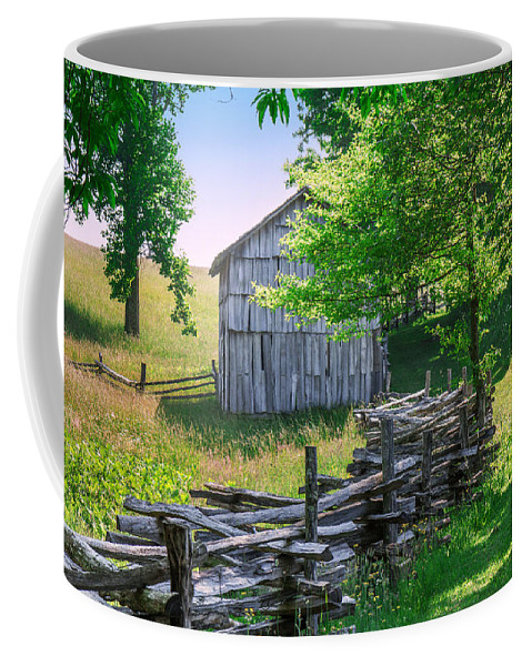 Cumberland Gap National Historical Park Coffee Mug featuring the photograph Sheep Barn by Mary Almond