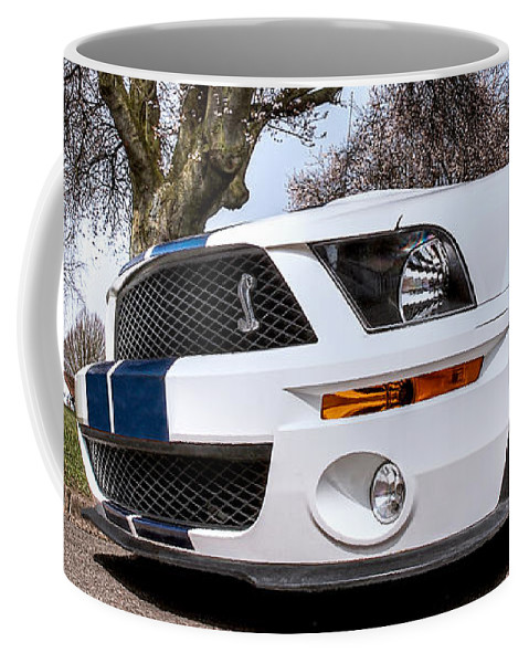 Shelby Mustang Coffee Mug featuring the photograph Shelby On The Village Green by Gill Billington