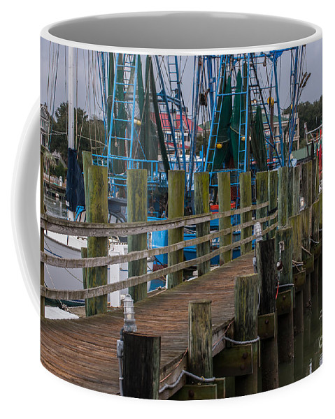 Pier Coffee Mug featuring the photograph Shem Creek Pier by Dale Powell