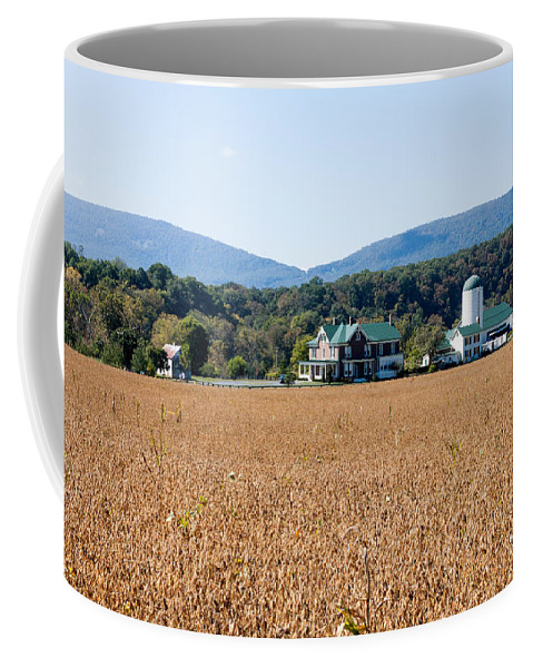 Virginia Coffee Mug featuring the photograph Shenandoah Valley Farmstead by Thomas Marchessault