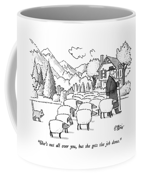 Animals Coffee Mug featuring the drawing She's Not All by Peter Steiner