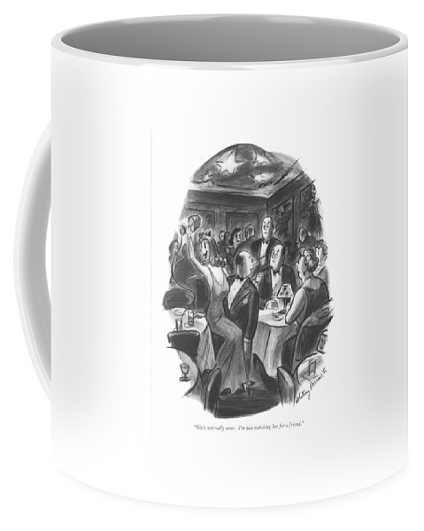 112537 Wda Whitney Darrow Coffee Mug featuring the drawing She's Not Really Mine. I'm Just Watching by Whitney Darrow, Jr.