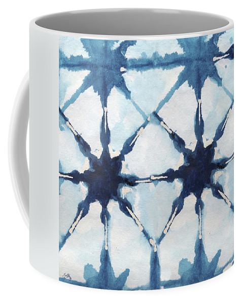 Shibori Coffee Mug featuring the digital art Shibori II by Elizabeth Medley