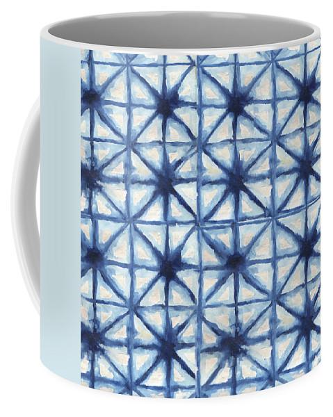 Shibori Coffee Mug featuring the digital art Shibori Iv by Elizabeth Medley