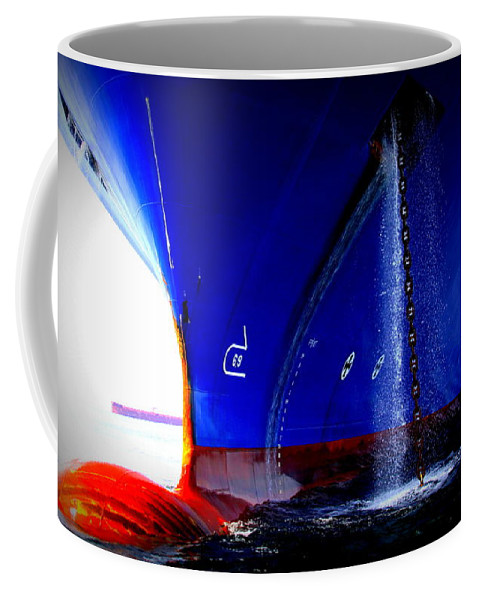 Ship Coffee Mug featuring the photograph Ship - Gulf Of Mexico by Travis Truelove